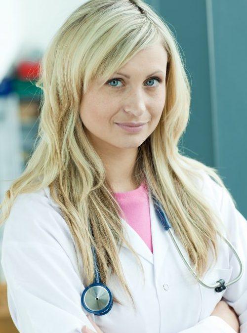 MedHunters Delighted female doctor